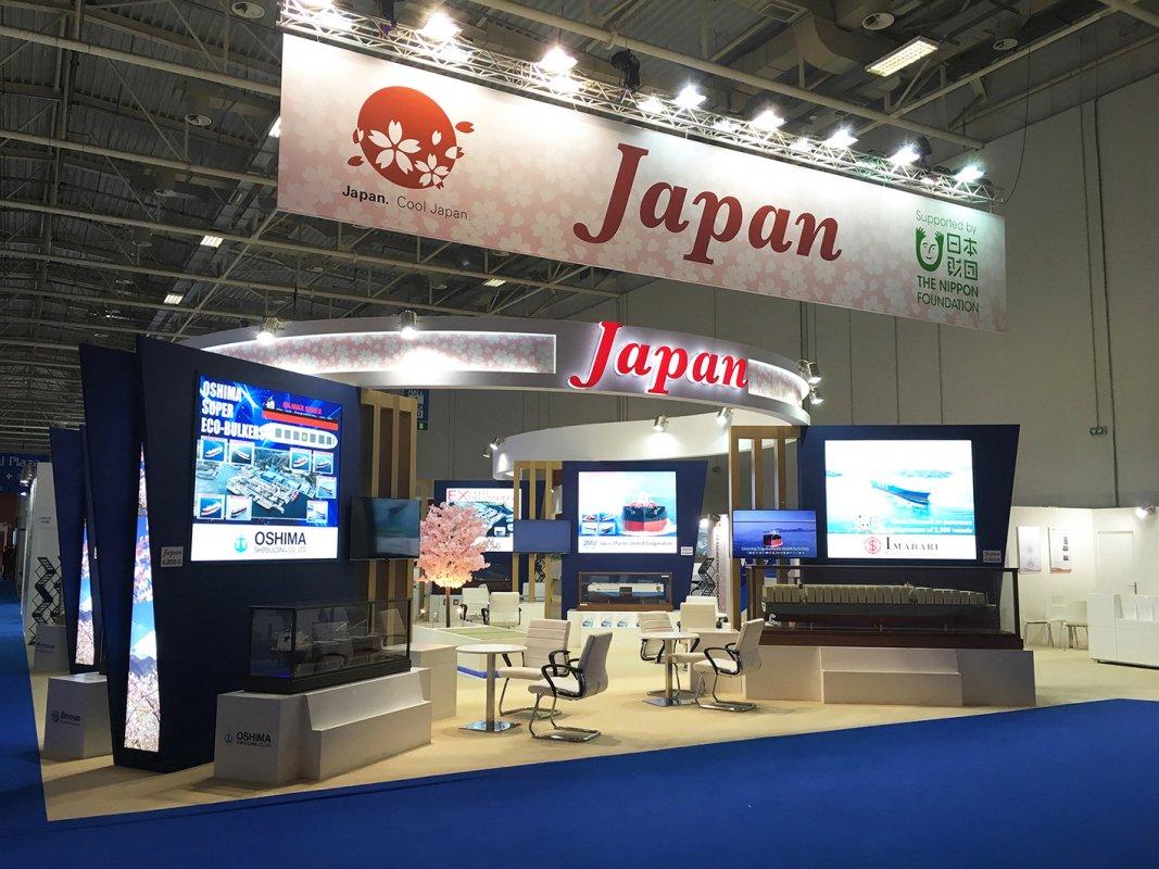 2018年アテネで開催された展示会での日本パビリオンです。